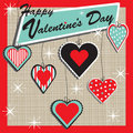 Retro Valentine Heart Ornaments Stock Photos