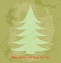 Retro vector christmas card with fir tree this is file of eps format Royalty Free Stock Photo