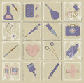 Retro vector icons medicine this is file of eps format Royalty Free Stock Image