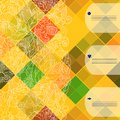 Retro vector pattern colorful mosaic banner repeating geometric tiles with colored rhombus geometric floral background with place Royalty Free Stock Photos