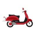 Retro vector scooter illustration.