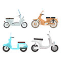 Retro vector scooter illustration.