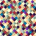 Retro vector seamless pattern colorful mosaic banner repeating geometric tiles with colored rhombus Stock Image