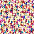 Retro vector seamless pattern colorful mosaic banner repeating geometric tiles with colored rhombus Royalty Free Stock Image