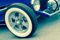 Retro vehicle toned vintage with white walled wheels Royalty Free Stock Photos