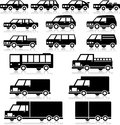 Retro vehicles icon set vector Royalty Free Stock Image