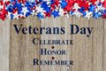 Retro Veterans Day message on wood Royalty Free Stock Photo