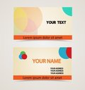 Retro vintage business card Stock Images