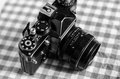Retro vintage camera in black and white Royalty Free Stock Photography