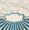 Retro vintage celebration card with snowflakes Royalty Free Stock Image
