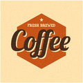 Retro Vintage Coffee Background with Typography Stock Images