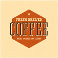 Retro Vintage Coffee Background with Typography Stock Photo
