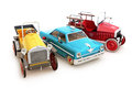 Retro vintage collection of toy cars Royalty Free Stock Photography