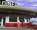 Retro Vintage Fifties Diner Il...
