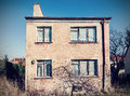 Retro vintage filtered old neglected house exterior Stock Images