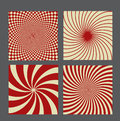 Retro vintage hypnotic background set vector illustration this is file of eps format Stock Photo