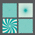 Retro vintage hypnotic background set vector illustration this is file of eps format Stock Image