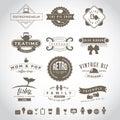 Retro vintage insignia set eps vector royalty free stock illustration Royalty Free Stock Photos