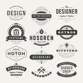 Retro Vintage Insignias or Logotypes set vector Royalty Free Stock Photo