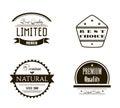 Retro Vintage Insignias or Logotypes set.