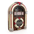 Retro vintage jukebox white background d model Royalty Free Stock Images