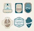 Retro vintage labels Stock Photography