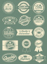 Retro Vintage Labels Seals and Crests Royalty Free Stock Photos
