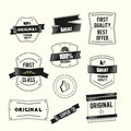 Retro vintage labels set Premium quality and origi Royalty Free Stock Photo