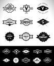 Retro Vintage Logo Set