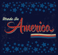 Retro vintage made in america sign vector grunge effects can be easily removed eps available Royalty Free Stock Photo