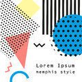 Retro vintage 80s or 90s fashion style. Memphis cards. Trendy geometric elements. Modern abstract design poster, cover