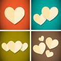 Retro vintage style paper hearts Royalty Free Stock Photography