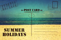 Retro vintage Summer Holidays Vacation postcard Royalty Free Stock Photo