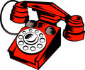 Retro vintage  telephone Stock Photography
