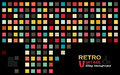 Retro vintage tiling background colorful rectangle on black nice and easy for use Royalty Free Stock Photo