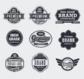 Retro Vintage Vector labels Stock Photography