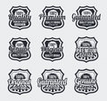 Retro Vintage Vector labels Royalty Free Stock Photo