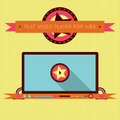 Retro vintage video player interface for web vector illustration smartphone and tablet graphic user Stock Photography