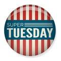 Retro Vote or Election Pin Button - Super Tuesday