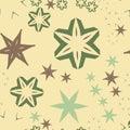 Retro Warping paper pattern seamless in light brown tones