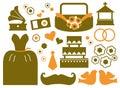Retro Wedding Design Elements
