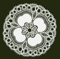 Retro white flower pattern Stock Photos