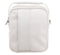Retro white leather sport bag Royalty Free Stock Photo