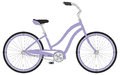 Retro woman sport bicycle on a white background vector illustration Stock Image