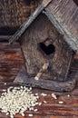 Retro wooden birdhouse Royalty Free Stock Photo