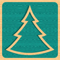Retro wooden Christmas tree Stock Images
