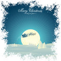 Retro Xmas card Royalty Free Stock Photos