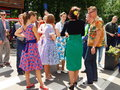 Retrofest in the park Sokolniki, Moscow. The youth in the clothes of 1950-1960s. Royalty Free Stock Photo