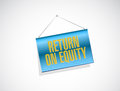 Return on equity banner sign concept illustration design over a white background Royalty Free Stock Image