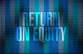 Return on equity binary sign concep concept illustration design over a blue background Stock Photos